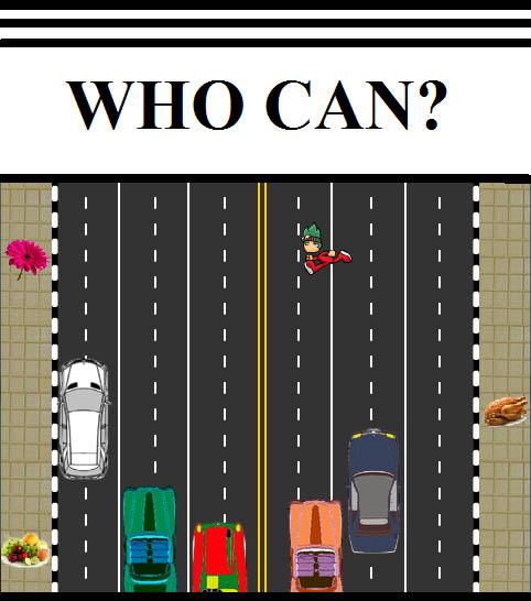 لعبة عبور الطريق