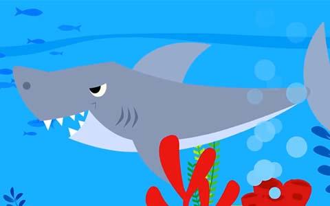 القرش والسمكات الثلاث