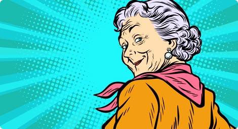 قصة العجوز الطماعة